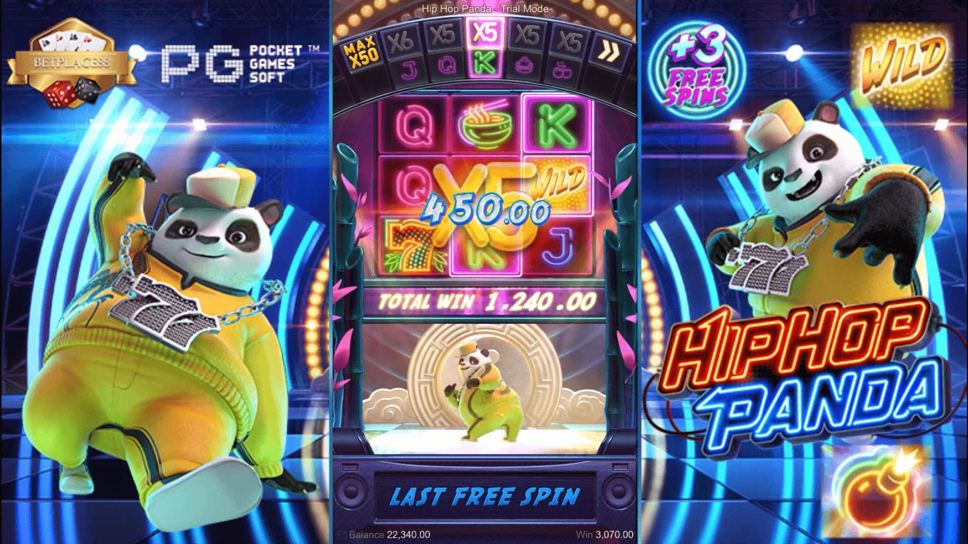 ชนะเกม สล็อตออนไลน์ PG SLOT เทคนิคเล่น Hip Hop Panda