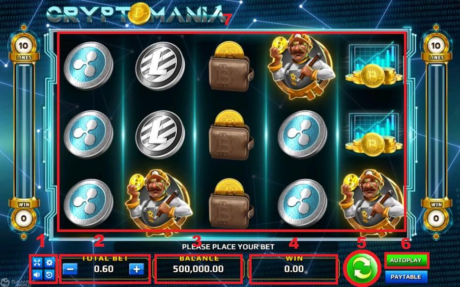 องค์ประกอบการเล่นเกมส์ CRYPTO MANIA