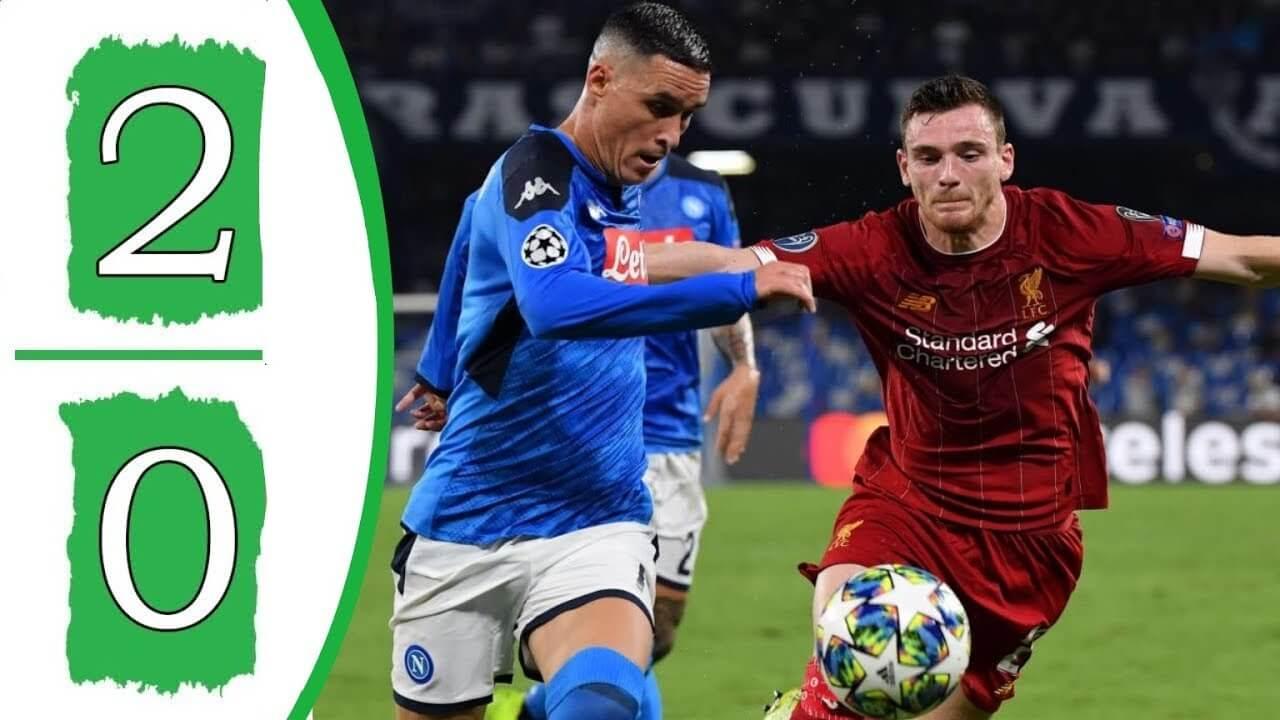 Napoli 2-0 Liverpool highlights