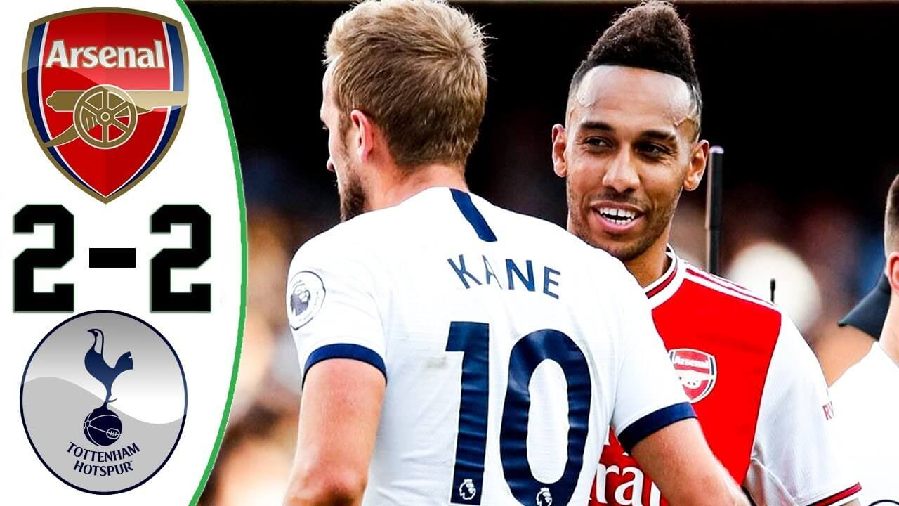arsenal 2 2 tottenham hotspur highlights