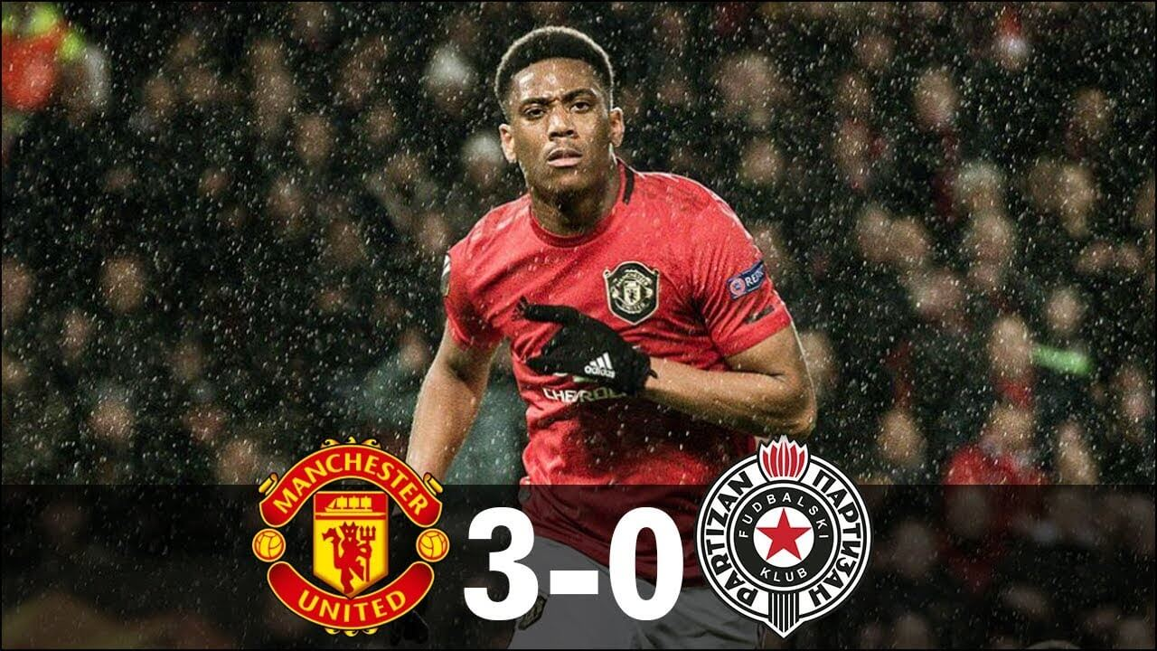 manchester united 3-0 partizan beograd highlights