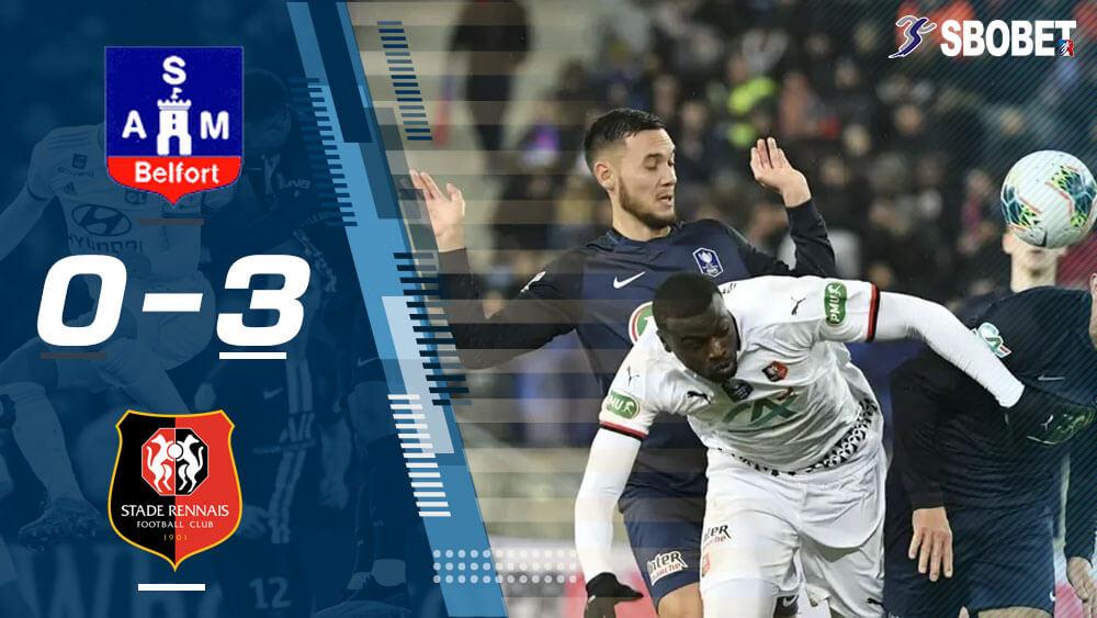 ดูบอลย้อนหลัง เบลฟอร์ 0-3 แรนส์ เฟร้นช์ คัพ (France Cup)
